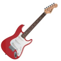 Photo SQUIER MINI STRATOCASTER TORINO RED ROSEWOOD