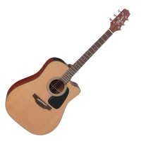 Photo TAKAMINE P1DC ELECTRO CUTAWAY NATURAL SATIN