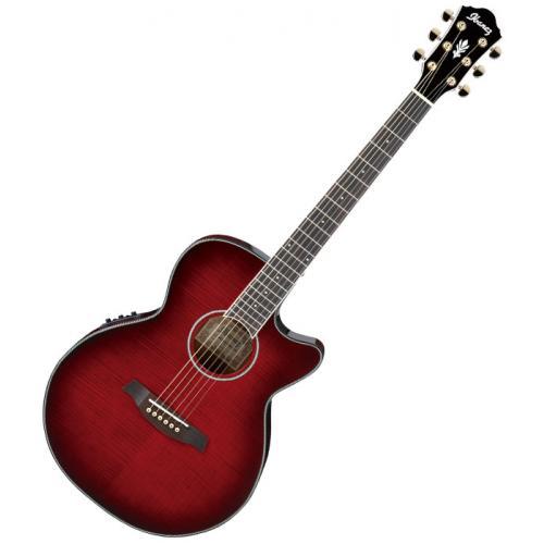 ibanez aeg24ii ths guitare folk electro acoustique rouge. Black Bedroom Furniture Sets. Home Design Ideas