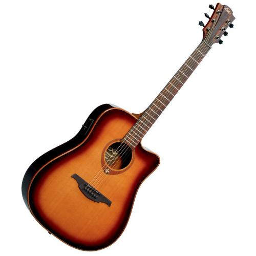 LAG T100DCE TRAMONTANE DREADNOUGHT CUTAWAY ELECTRO BROWN SHADOW