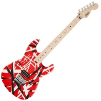 Photo EVH STRIPE SERIES RED W/BLACK/WHITE STRIPES