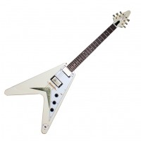 Photo GIBSON CUSTOM SHOP 1959 MAHOGANY FLYING V VOS TELLURIDE WHITE