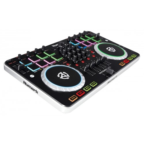 NUMARK MIXTRACK QUAD - CONTROLEUR DJ 4 VOIES + CARTE SON