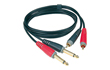 Photo KLOTZ TWINCABLE 2 RCA MALE/2 JACK MALE 3M