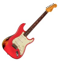 Photo FENDER CUSTOM SHOP '60 STRATOCASTER RELIC FIESTA RED OVER 3TS