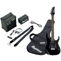 Photo IBANEZ IJRG200-BK JUMPSTART - PACK GUITARE ELECTRIQUE BLACK
