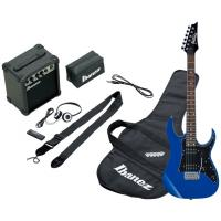 Photo IBANEZ IJRG200-BL JUMPSTART - PACK GUITARE ELECTRIQUE BLUE