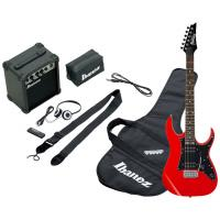Photo IBANEZ IJRG200-RD JUMPSTART - PACK GUITARE ELECTRIQUE RED