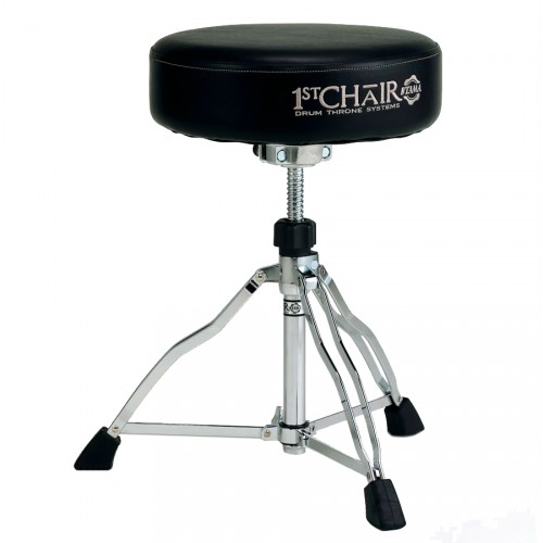 TAMA HT430N - 1ST CHAIR ROUND RIDER SIÈGE ROND PLAT CUIR DOUBLE EMBASE