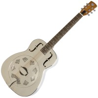 Photo DOBRO HOUND DOG M-14 METAL BODY ROUND NECK