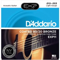Photo D'ADDARIO EXP11NY COATED 80/20 BRONZE LIGHT 12/53