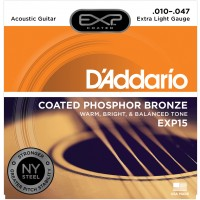 Photo D'ADDARIO EXP15NY COATED PHOSPHOR BRONZE EXTRA LIGHT 10/47