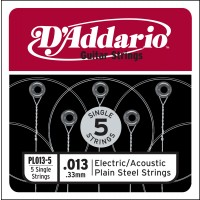 Photo D'ADDARIO 5 CORDES ACIER PLEIN 013