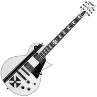 Photo ESP SIGNATURE JAMES HETFIELD IRONCROSS SNOW WHITE