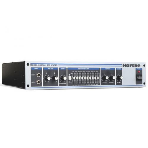 HARTKE HA2500 - TÊTE D'AMPLI 250W/4 OHMS - RACK 2U