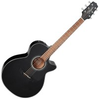 Photo TAKAMINE GF30CE-BLK ELECTRO CUTAWAY BLACK