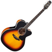 Photo TAKAMINE P6JC-BSB ELECTRO CUTAWAY BROWN SUNBURST GLOSS