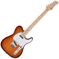Photo G&L TRIBUTE ASAT CLASSIC TOBACCO SUNBURST/ERABLE