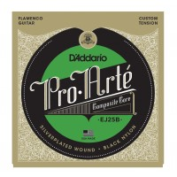 Photo D'ADDARIO EJ25B PRO ARTE COMPOSITE FLAMENCO/NYLON NOIR NORMAL TENSION