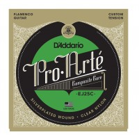 Photo D'ADDARIO EJ25C PRO ARTE COMPOSITE FLAMENCO/NYLON CLEAR NORMAL TENSION