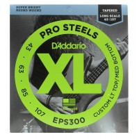 Photo D'ADDARIO EPS300 PROSTEELS TAPERED 43-107 LONG SCALE