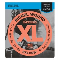 Photo D'ADDARIO EXL110W LIGHT/SOL FILÉ 10/46