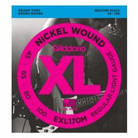 Photo D'ADDARIO EXL170M NICKEL WOUND MEDIUM 45-100