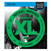 Photo D'ADDARIO EXL220BT NICKEL WOUND BT LONG 40-95