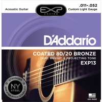 Photo D'ADDARIO EXP13NY EXP 80/20 BRONZE CUSTOM LIGHT 11/52