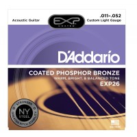 Photo D'ADDARIO EXP26NY EXP COATED PHOSPHORE BRONZE CUSTOM LIGHT 11/52