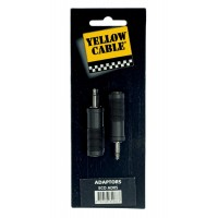 Photo YELLOW CABLE AD05 ADAPTATEUR MINI-JACK MALE/JACK FEMELLE (X2)