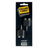 Photo YELLOW CABLE AD09 ADAPTATEUR MINI JACK MALE/2 RCA FEMELLE (X2)