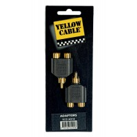 Photo YELLOW CABLE AD14 ADAPTATEUR RCA MALE/2 RCA FEMELLE X2