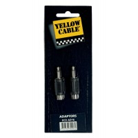 Photo YELLOW CABLE AD16 ADAPTATEUR RCA FEMELLE/MINI JACK MALE (X2)