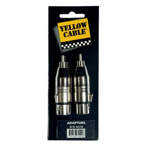Yellow Cable AD18-2 Adaptateurs Rca Mâle//Xlr Femelle