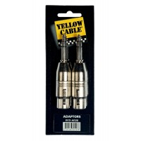 Photo YELLOW CABLE AD26 ADAPTATEUR JACK MALE/XLR FEMELLE X2
