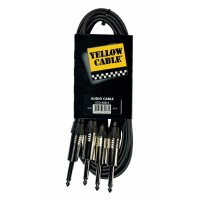 Photo YELLOW CABLE K08-3 JACK/JACK 3M X2
