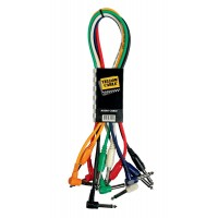 Photo YELLOW CABLE P090CD-6 - 6 CORDONS JACK COUDÉ/JACK 90CM