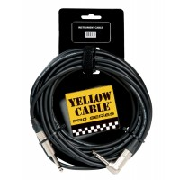 Photo YELLOW CABLE PROG76D-C NEUTRIK JACK COUDÉ/JACK - 6M