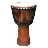 "Photo TANGA DJEMBE LINKE 13.5"" SCULPTE"