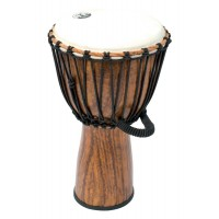 "Photo TANGA DJEMBE PVC 12"" DESIGN BOIS"