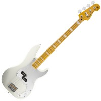 Photo SQUIER PRECISION BASS CHRIS AIKEN OLYMPIC WHITE