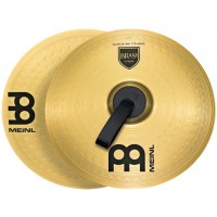 "Photo MEINL CYMBALES MARCHING STUDENT RANGE BRASS 14"" (PAIRE)"