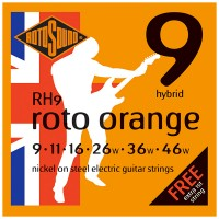Photo ROTOSOUND RH9 ROTO ORANGE NICKEL HYBRID 9/46