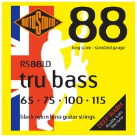 Photo ROTOSOUND RS88LD TRU BASS 88 BLACK NYLON FLATWOUND STANDARD 65/115