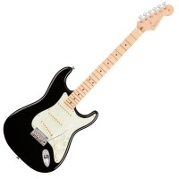 Photo FENDER AMERICAN PROFESSIONAL STRATOCASTER BLACK MN