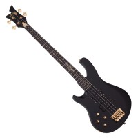 Photo SCHECTER JOHNNY CHRIST BASS SIGNATURE SATIN BLACK GAUCHER