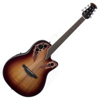 Photo OVATION CE48P-KOAB CELEBRITY ELITE PLUS SUPER SHALLOW KOA BURST