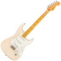 Photo FENDER JOURNEYMAN RELIC ERIC CLAPTON STRATOCASTER AGED WHITE BLONDE