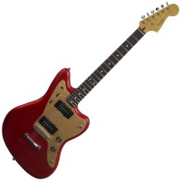 Photo SQUIER DELUXE JAZZMASTER CANDY APPLE RED STOP TAIL